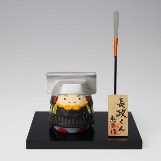 緒方恵子の博多人形「長政くん」です。人形の正面です。