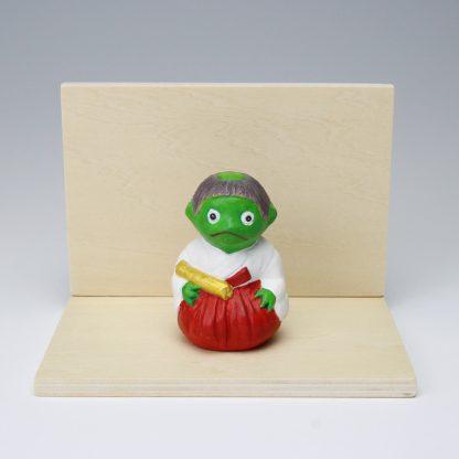垣内敬一人形 かっぱの巫女ちゃん(緑色)